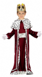 KING WISE MAN IN RED NATIVITY COSTUME WITH CROWN